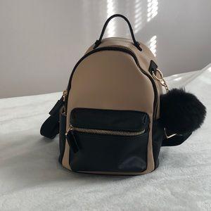 Handbags - Black & Beige Backpack